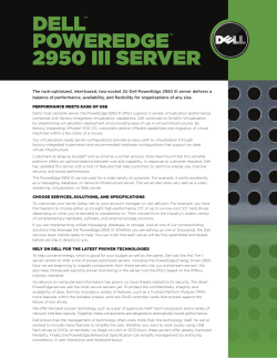 DELL  POWEREDGE 2950 III SERVER