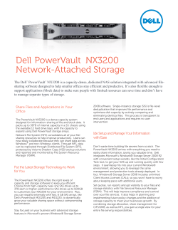 Dell PowerVault  NX3200 Network-Attached Storage