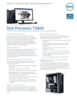 Dell Precision T5600 Dell Precision Workstations