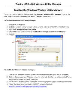 Turning off the Dell Wireless Utility Manager
