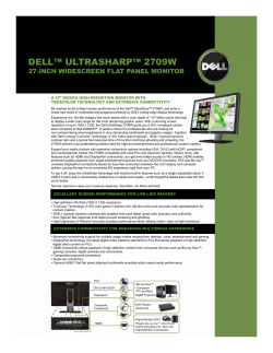 DELL™ ULTRASHARP™ 2709W 27-INCH WIDESCREEN FLAT PANEL MONITOR