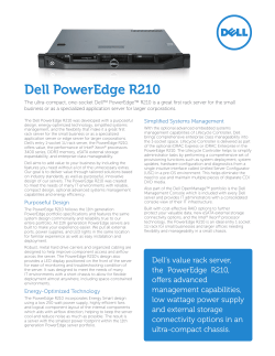 Dell PowerEdge R210 Simplified Systems Management