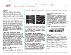 Cisco Catalyst Blade Switch Series for Dell PowerEdge Challenges
