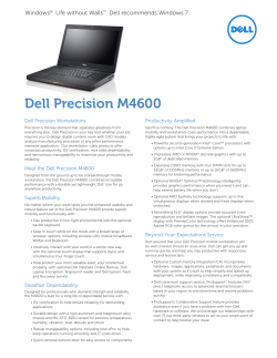Dell Precision Workstations Productivity Amplified