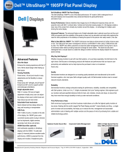Dell™ UltraSharp™ 1905FP Flat Panel Display