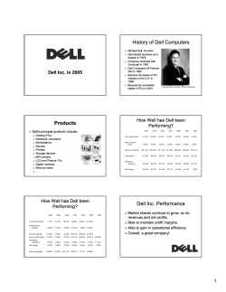 History of Dell Computers