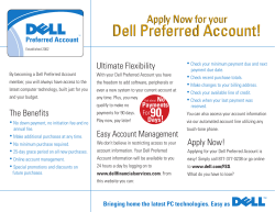 Dell Preferred Account! Apply Now for your Ultimate Flexibility