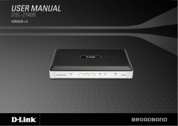 Table of Content D-Link DSL-2740B User