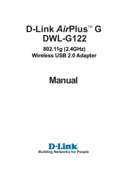 Air DWL-G122 Manual