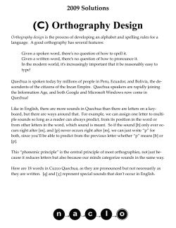 (C) Orthography Design 2009 Solutions