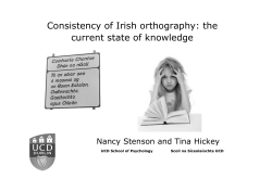 Consistency of Irish orthography: the current state of knowledge
