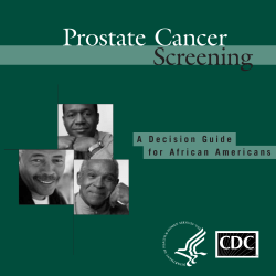 Screening Prostate Cancer