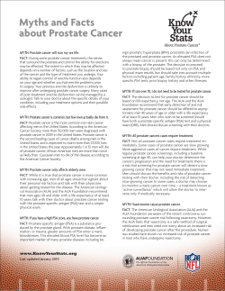 MYTH: Prostate cancer will ruin my sex life.
