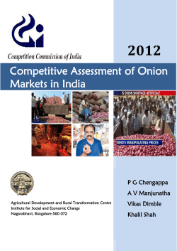 2012  Competitive Assessment of Onion Markets in India