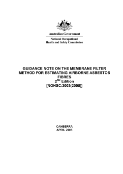 GUIDANCE NOTE ON THE MEMBRANE FILTER METHOD FOR ESTIMATING AIRBORNE ASBESTOS FIBRES 2
