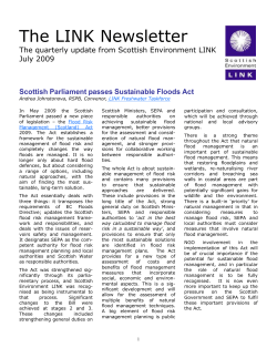 The LINK Newsletter  The quarterly update from Scottish Environment LINK July 2009