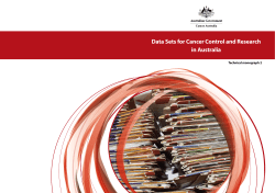 Data Sets for Cancer Control and Research in Australia Technical monograph 2