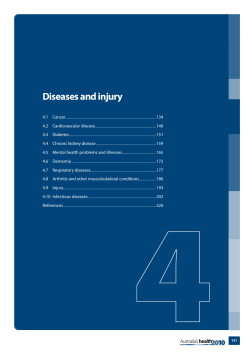 Diseases and injury 4.1  Cancer 134