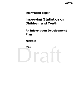 Improving Statistics on Children and Youth An Information Development Plan