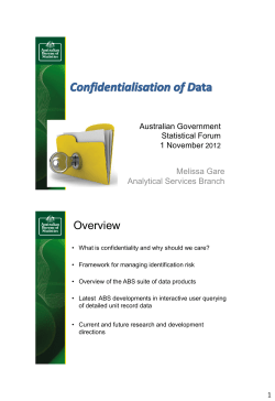 Overview  Australian Government Statistical Forum