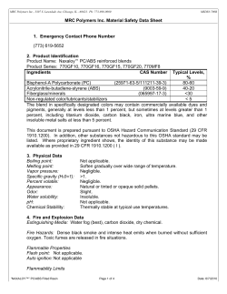 MRC Polymers Inc. Material Safety Data Sheet  2.  Product Identification