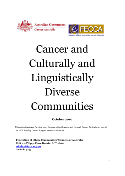 Cancer and Culturally and Linguistically Diverse