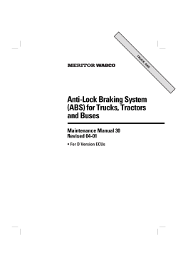 Anti-Lock Braking System (ABS) for Trucks, Tractors and Buses Maintenance Manual 30
