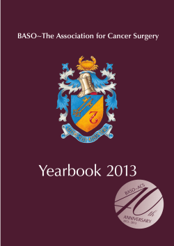 40 Yearbook 2013 th BASO~The Association for Cancer Surgery