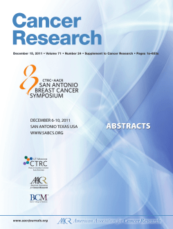 Cancer Research www.aacrjournals.org December 15, 2011 • Volume 71 • Number 24 •...