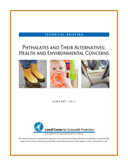 Phthalates and Their Alternatives: Health and Environmental Concerns