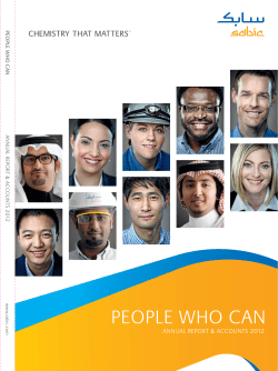 PEOPlE wHO CAN ANNUAl REPORT & ACCOUNTS 2012  PE