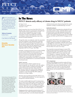 PET/CT P In The News
