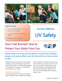 UV Safety Summer Wellness