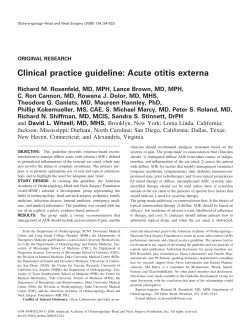 Clinical practice guideline: Acute otitis externa