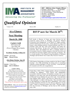 Qualified Opinion RSVP now for March 20 !