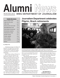Alumni News WWU DEPARTMENT OF JOURNALISM WINTER 2014