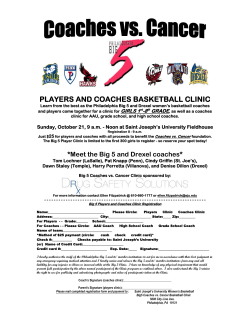 PLAYERS AND COACHES BASKETBALL CLINIC GIRLS 1 -8