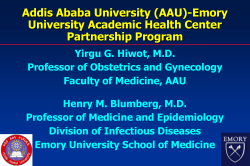 Addis Ababa University (AAU)-Emory University Academic Health Center Partnership Program