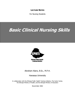 Basic Clinical Nursing Skills  L N