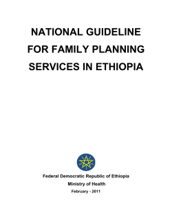 NATIONAL GUIDELINE FOR FAMILY PLANNING SERVICES IN ETHIOPIA
