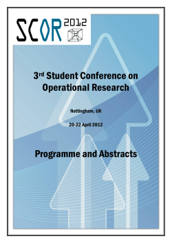 3 Student Conference on Operational Research