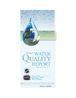 Quality WATER REPORT Annual