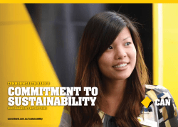 COMMITMENT TO SUSTAINABILITY COMMONWEALTH BANK'S SUSTAINABILITY REPORT 2012