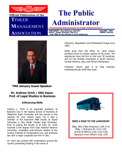 The Public Administrator Official Publication of the