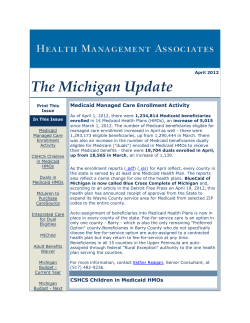 The  Medicaid Managed Care Enrollment Activity