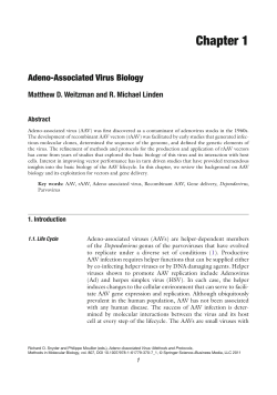 Chapter 1 Adeno-Associated Virus Biology Abstract