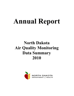 Annual Report  North Dakota Air Quality Monitoring