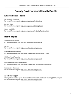 County Environmental Health Profile Environmental Topics