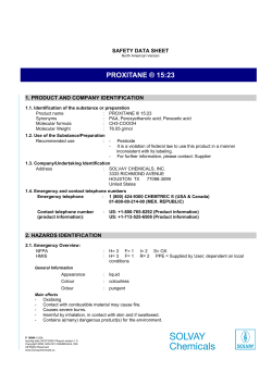 PROXITANE ® 15:23 SAFETY DATA SHEET 1. PRODUCT AND COMPANY IDENTIFICATION