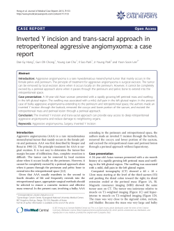 Inverted Y incision and trans-sacral approach in report CASE REPORTS